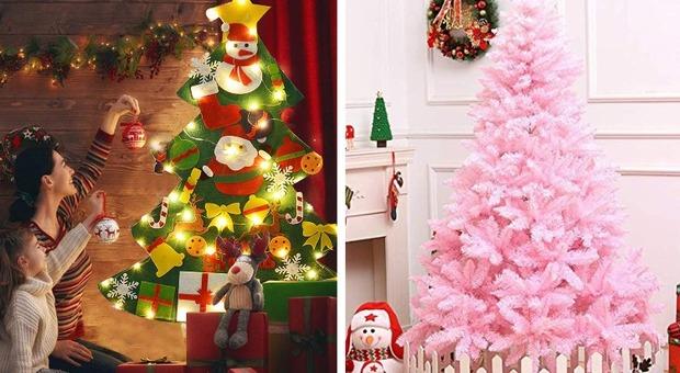 Alberi Di Natale Decorati Foto.L Albero Di Natale Bianco In Feltro O In Lattina Tutte Le