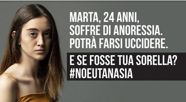 Eutanasia, campagna pubblicitaria choc: «E se fosse tua sorella?»