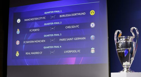 Champions, il sorteggio dei quarti di finale in diretta dalle 12