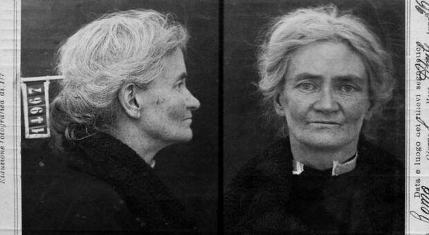 Violet Gibson, la foto segnaletica della polizia italiana
