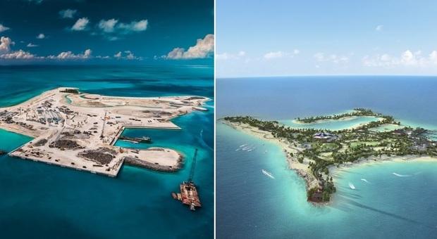 Da ex sito industriale a isola paradisiaca: alle Bahamas nasce Ocean Cay