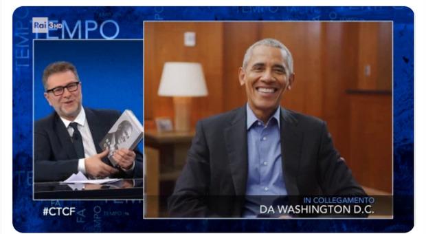 Barack Obama ospite di Fabio Fazio, conduttore incredulo: «È tutto vero...»