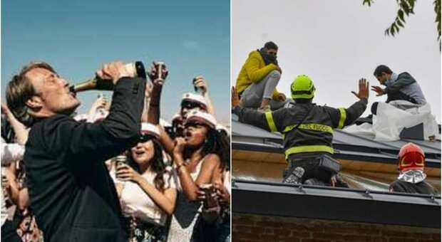 Roma, festa con 40 studenti interrotta dalla polizia. 25enne scappa e cade dal tetto: portato in ospedale