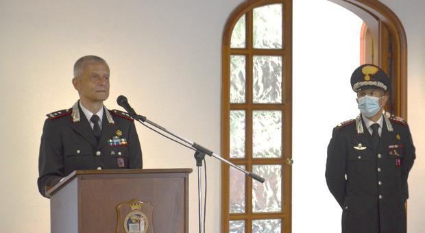 Il generale De Vita (a sinistra) con il colonnello D'Aloia