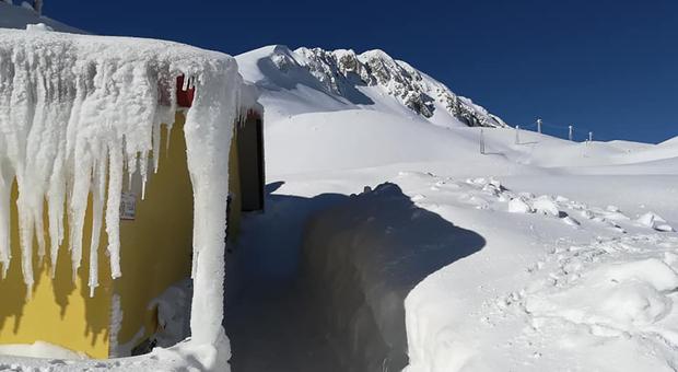 Slavina al Terminillo in località Rialto: né persone, né mezzi sono finiti sotto la neve