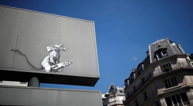 L'opera di Banksy rubata