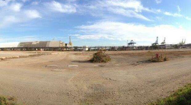 L'area di Marghera dopo le demolizioni per la bonifica