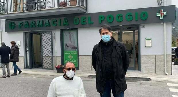 Il presidente della Provincia, Mariano Calisse, insieme al consigliere Fabio Nobili