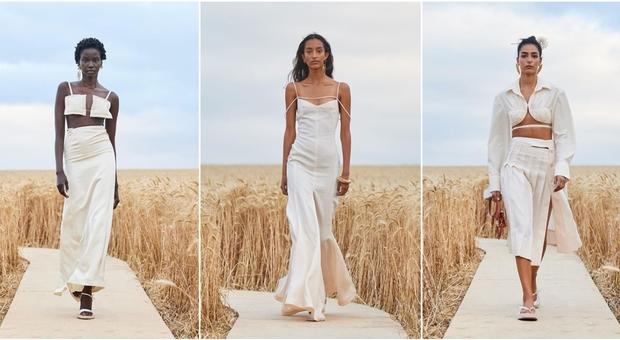 Jacquemus sfila nei campi di grano: «L'Amore è nelle piccole cose»