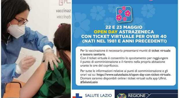 Lazio, oggi le prenotazioni per l'Open Day AstraZeneca: a che ora apre il portale e quali i centri per vaccinarsi