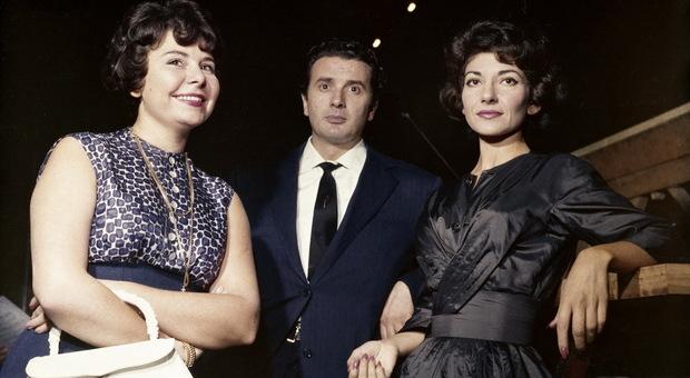 Christa Ludwig (nella foto a sinistra) nel 1960 alla Scala di Milano con Paolo Corelli e Maria Callas