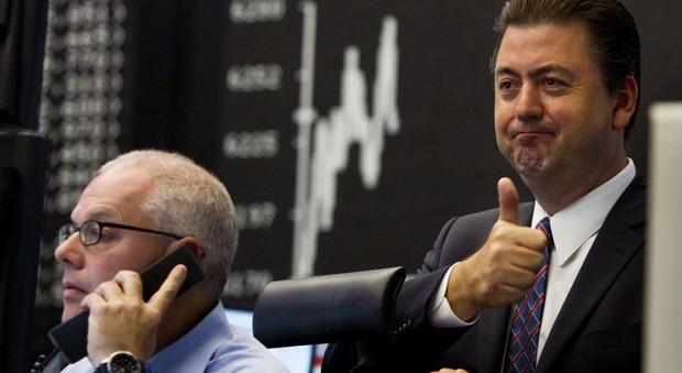 Operatori di Borsa al lavoro