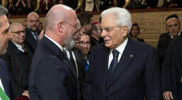 Mattarella, colloquio con Bonaccini e Toti: «Stretta collaborazione tra istituzioni»
