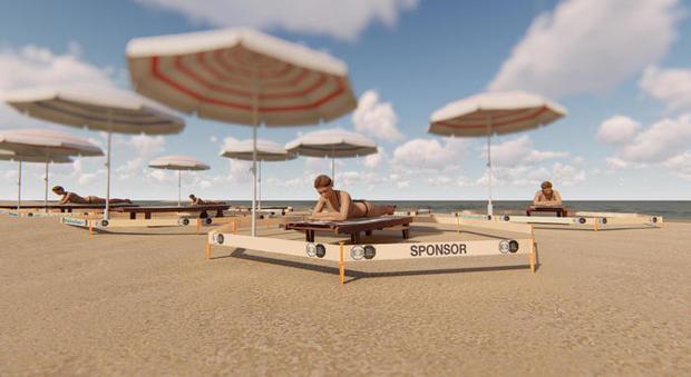Coronavirus Estate, un kit con nastro e picchetti per isolarsi in spiaggia (anche quella libera)