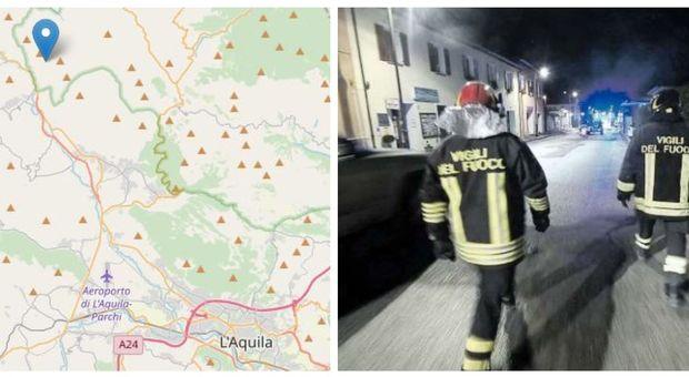 Terremoto all'Aquila, scosse di magnitudo fra 3.7 e 3.4, gente in strada