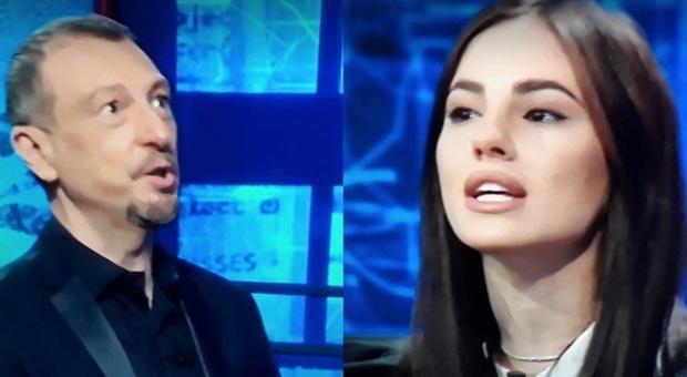 """Giulia De Lellis a I Soliti Ignoti """"critica"""" il meccanismo di gioco. Amadeus risponde così"""
