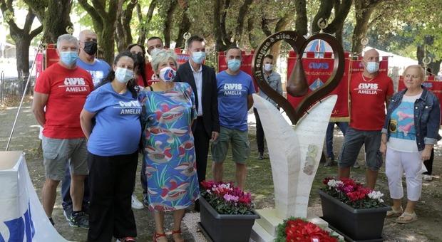 Avis Amelia spegne 50 candeline: Inaugurato il monumento dedicato ai donatori