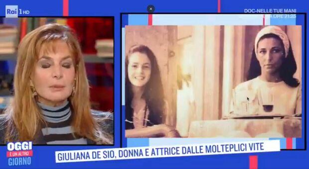 """Giuliana De Sio ospite della trasmissione """"Oggi è un altro giorno"""" su Rai 1"""