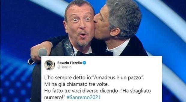 Amadeus al lavoro per Sanremo 2021, Fiorello conferma: «È un pazzo»