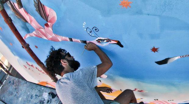 Lo street artist Giorgio Casu