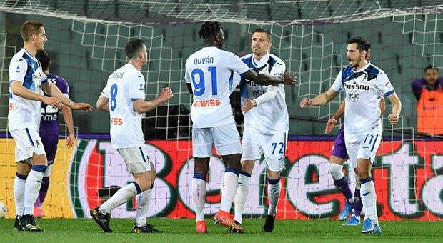 La Fiorentina spaventa l'Atalanta, ma Ilicic la riporta al quarto posto