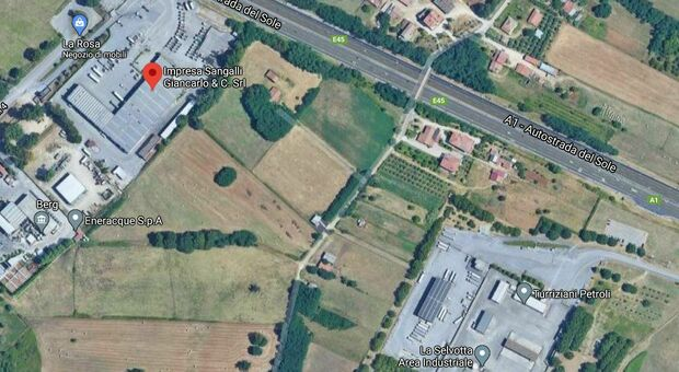 L'area in cui dovrebbe sorgere il biodigestore e dove si trova l'impianto di trasferenza della Sangalli