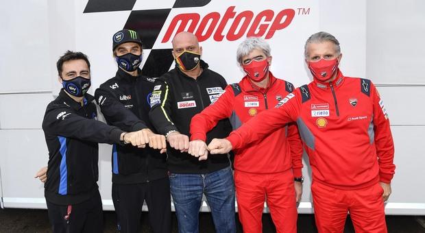 Da sinistra Pablo Nieto, Luca Marini, Raul Romero, Luigi Dall Igna e Paolo Ciabatti