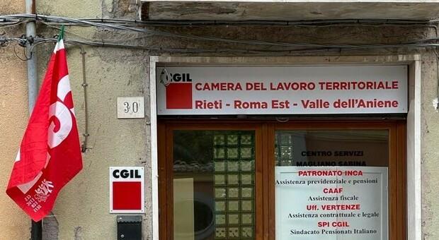 Cgil, tutto pronto per l'inaugurazione della rinnovata sede a Magliano Sabina