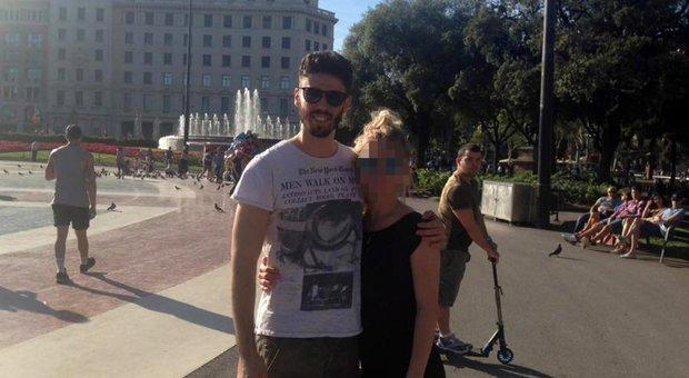 Luca Sacchi con la fidanzata Anastasia