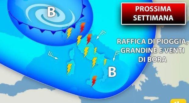 Meteo, ondata di temporali e grandine nel weekend: da domenica la svolta autunnale