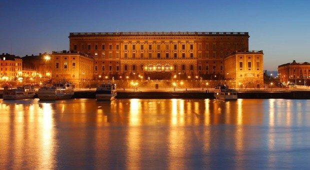 Il palazzo reale di Stoccolma, capitale della Svezia