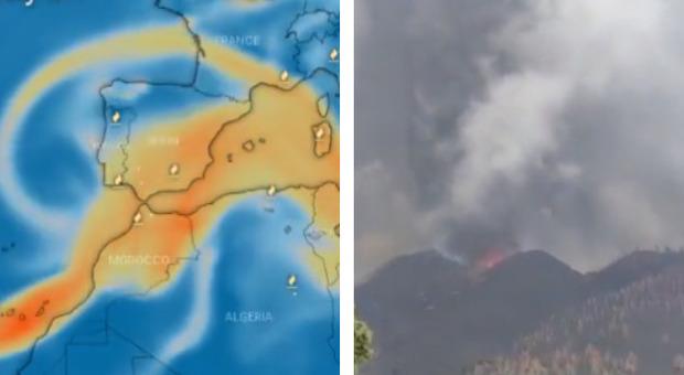 Vulcano Canarie, la nube di anidride solforosa in arrivo su Sicilia, Sardegna e costa tirrenica Che cosa sappiamo