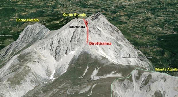 Vede incidente in montagna e lancia l'allarme: donna in pericolo sul Gran Sasso