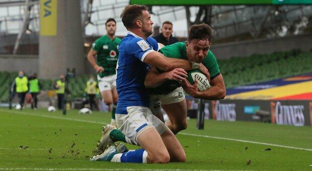 Rugby, Sei Nazioni: Irlanda-Italia 50-17, gli azzurri di Smith travolti a Dublino nel primo match a porte chiuse del Torneo