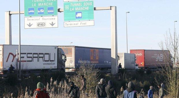 Gran Bretagna pronta a costruire muro anti-migranti sull'autostrada per Calais