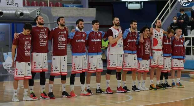 Il Real Sebastiani prima del match contro Taranto di domenica scorsa (foto Ufficio stampa Real Sebastiani)