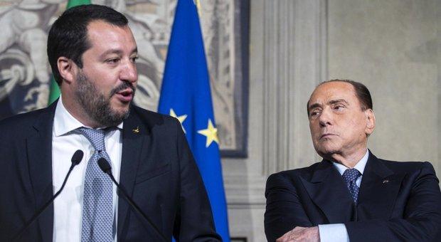 Salvini-Berlusconi, incontro a Milano: «Piena sintonia, fronte comune contro il governo»