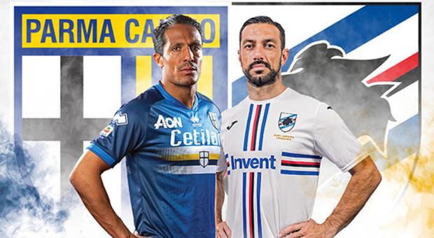Parma e Samp in campo a maglia invertite