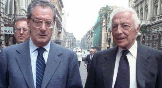 Cesare Romiti con Gianni Agnelli, e lungo ad e presidente della Fiat