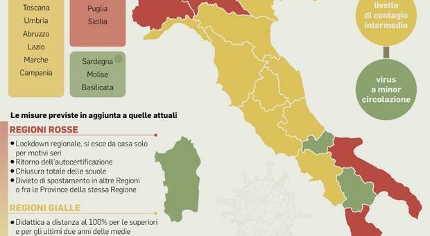Cartina Regione Lazio Divisa Per Province.Dpcm Lombardia Piemonte E Calabria Verso Il Lockdown Totale Cosa Succedera Regione Per Regione