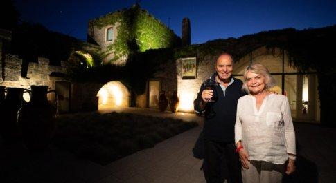 Bruno Vespa e la moglie Augusta Iannini