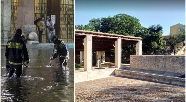 Bomba d'acqua su Sassari, 53enne muore affogato nella fontana delle Conce