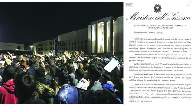 Il Viminale: «Tolleranza zero, mai più rave nelle università»