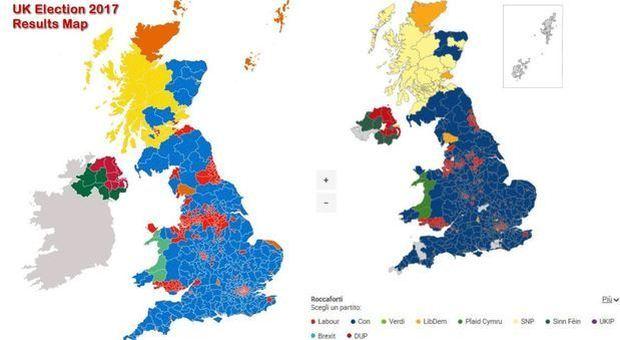 Regno Unito, lo spoglio e i dati in tempo reale: ecco la distribuzione dei seggi