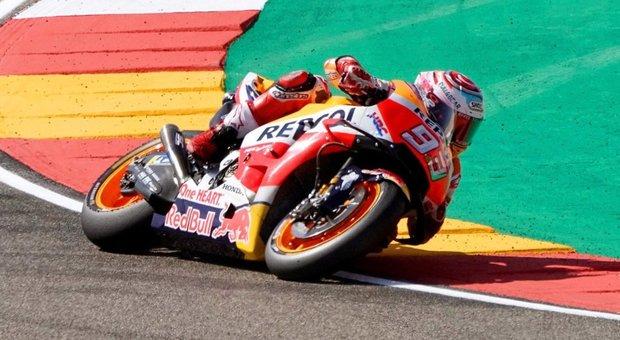 Aragon, vince Marquez, Dovizioso è secondo. Rossi 8/o