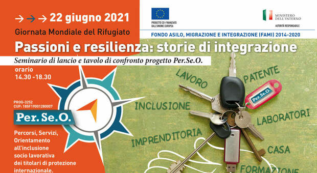 Roma, progetto Perseo organizza «Passione e resilienza: storie di integrazione» per la Giornata Mondiale del Rifugiato