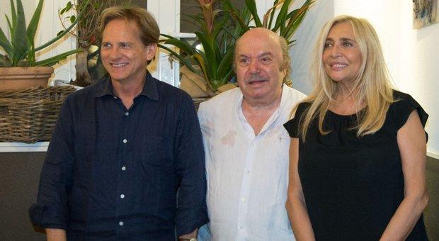 Giulio Scarpati, Lino Banfi e Mara Venier (Foto Fracassi/Toiati)
