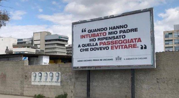 Coronavirus, a Cagliari manifesti choc: «Mio padre intubato, dovevo rinunciare alla corsa»