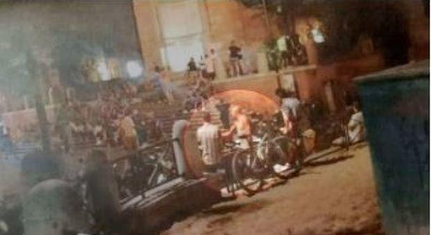 La foto agli atti dell'inchiesta sull'omicidio del carabiniere Mario Cerciello Rega