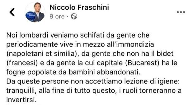 Il post della vergogna del consigliere comunale di Pavia